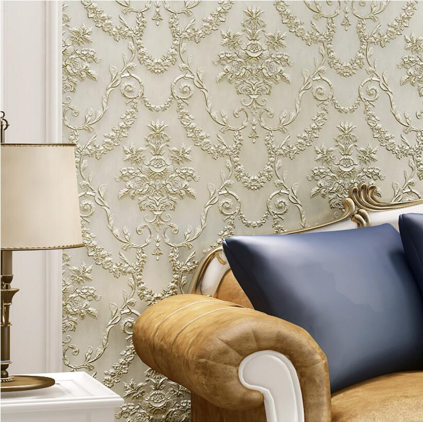 3d three-dimensional sculpture wallpaper vintage fashion ab tv background wallpaper filament non-woven