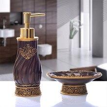 Bathroom Set piece European creative hand sanitizer bottle resin soap box suite bathroom to wash single items Decoration