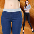 2016 Sexy Jeans Women Plus Velvet Casual Waist Elastic Slim Denim Long Pencil Pants Plus Size Woman  Lady Trousers leggings