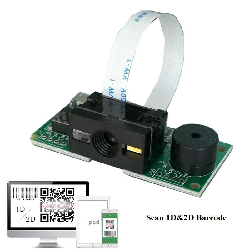 1D/2D de código de barras escáner de código de barras para código QR PDF417  matriz de datos
