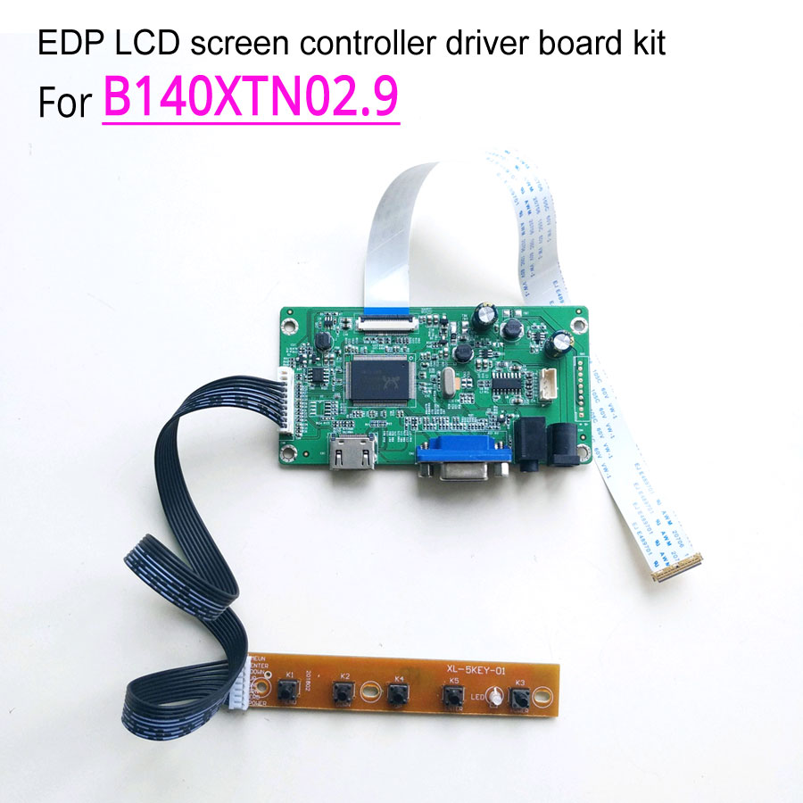 For B140XTN02 9 14 60Hz notebook LCD screen 30 pin EDP 1366 768 WLED HDMI VGA