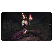 (Liliana On Brench Dark Playmat),Magical Card Board The Games Proxy Play Mat, MGT Custom Design Playmat with Free Gift Bag(China)