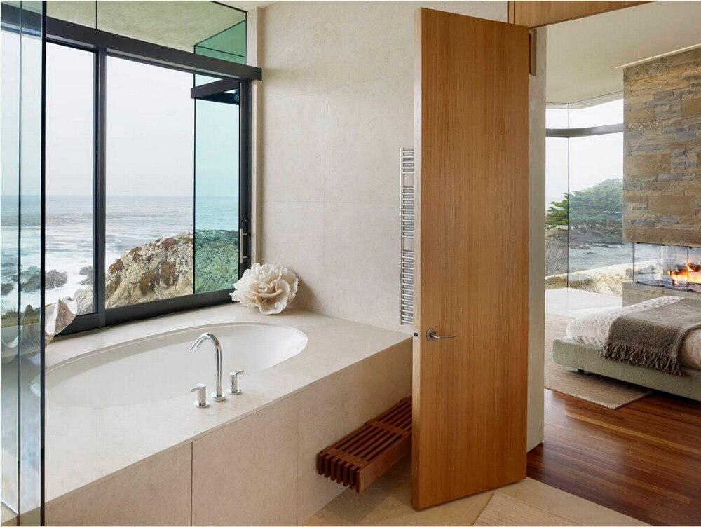 2017 offre spéciale très durable panneau plat en bois massif porte en bois porte intérieure portes de placard ID1606005