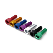 4PCs Bicycle Water Bottle Holder Screw Bicycle Bottle Bolt Bicycle Bottle Screw Aluminum Alloy Screws Bike Repair Accessory