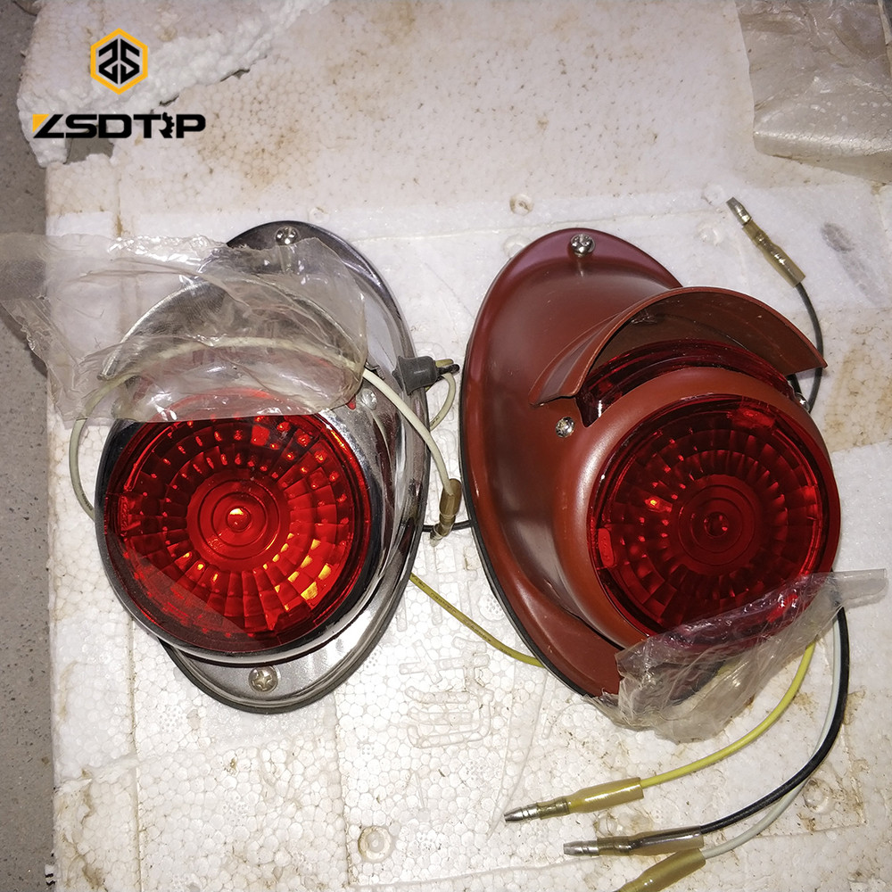 retro model Side car red or white color rear light used at ural CJ-K750 M72 case for Bmw R12 R71 motor