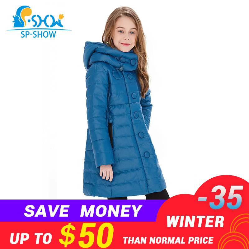 Kids Down Coats 2018 Winter down jacket Coat Thicker Warm Jacket New Fashion For Big Children Girl Winter Jacket Luxury Brand free shipping new brand mens charge garments multifunction jacket winter warm thicker cotton parkas sales
