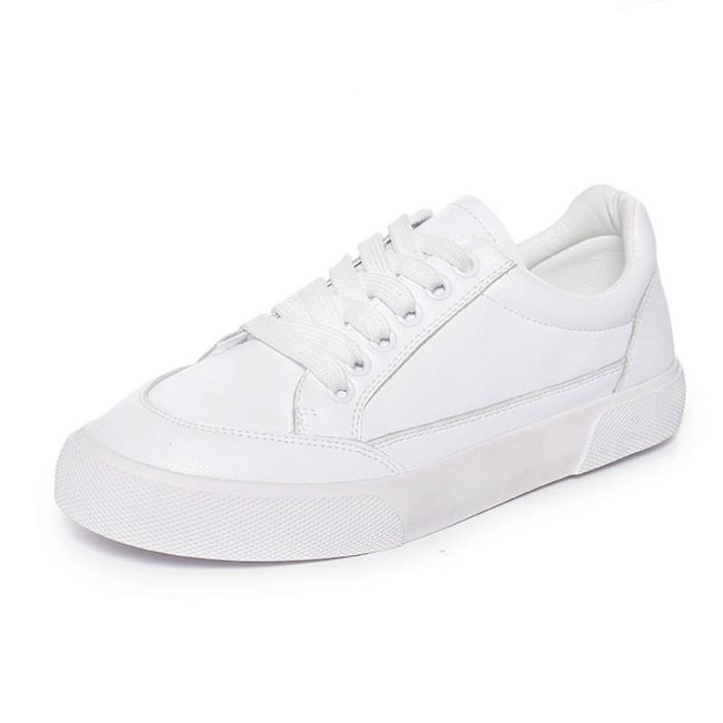 Brand Same Paragraph Genuine Leather Women s Sneaker Shoes Lace Up Small White Shoes Female Soft