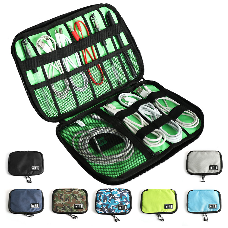 Storage-Bag Mobile-Phone-Accessories Headset Travel-Function Charger Waterproof Data-Cable