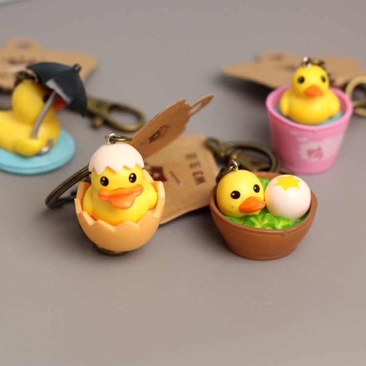 Keychain Action-Figure-Model Gifts IVYYE Anime Toys Pvc-Collection Unisex Duck-Fashion