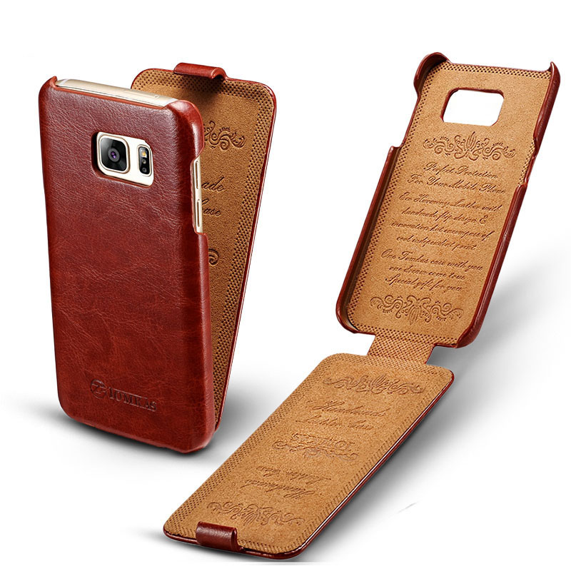 bilder für 2017 neue vertikale offen schlag-abdeckung für samsung galaxy s7 g9300 5,1 flat screen top qualität 5 farben retro business phone case