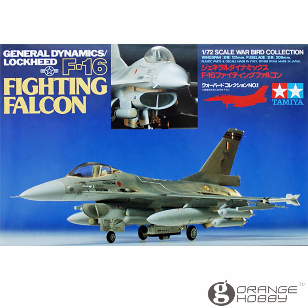 OHS Tamiya 60701 1/72 General Dynamics/Lockheed F16 Fighting Falcon Assembly Airforce Model Building Kits G