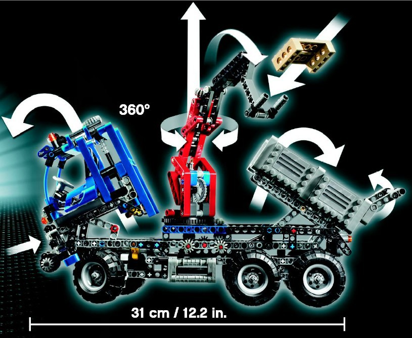 ФОТО free shipping decool 3331 large 805pcs exploiture crane model enlighten plastic building blocks sets educational children toys