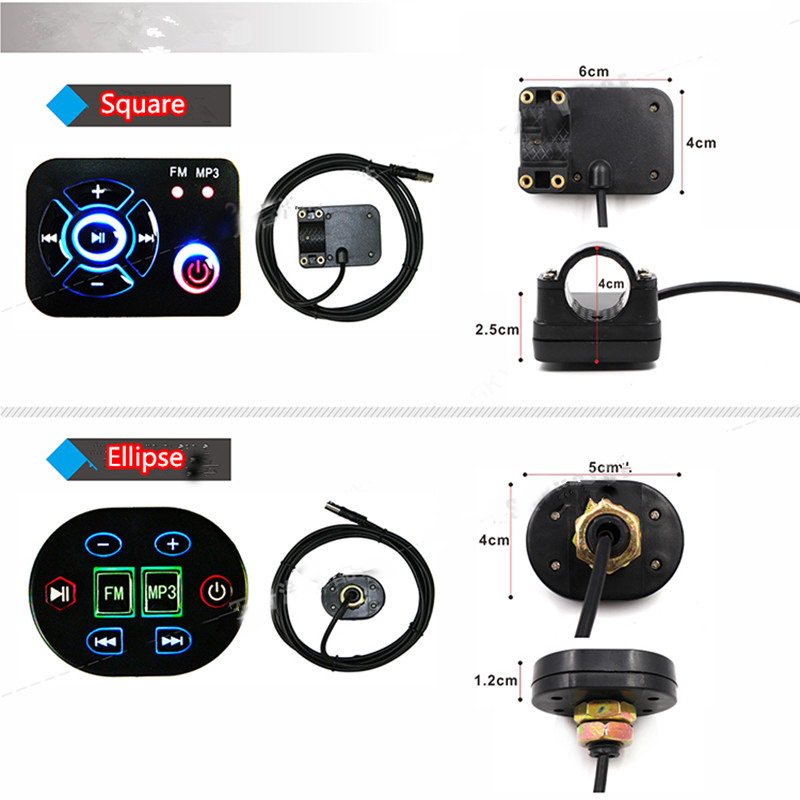 Image 5 - Support 12V  ANDONIS Motorcycle MP3 player,Scooter audio support SD card ATV Motorbike Bluetooth MP3 usb player-in Motorcycle Audio from Automobiles & Motorcycles