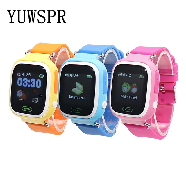 kids GPS Tracker watch GPS LBS location Anti-Lost SOS Call Finder Touch Screen Tracking Safe children Smart watch gift Q90 G72 1