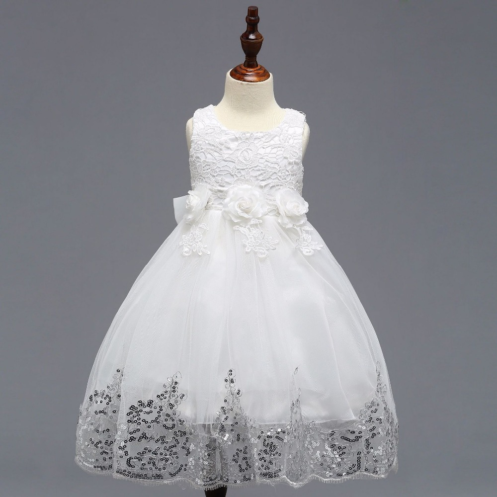 2018 Flower Girl Dresses For Weddings A-line Cap Sleeves Tulle Lace First Communion Dresses For Little Girls