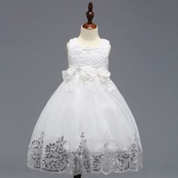 2018 Flower Girl Dresses For Weddings A line Cap Sleeves Tulle Lace First Communion Dresses For Little Girls