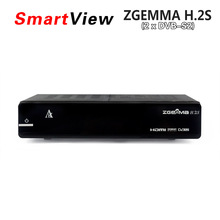 Original ZGEMMA H.2S Twin Tuner DVB-S2 + DVB-S2 Dual Core Satellite Receiver Enigma 2 linux OS 2000DMIPS CPU BCM7362 Set Top Box
