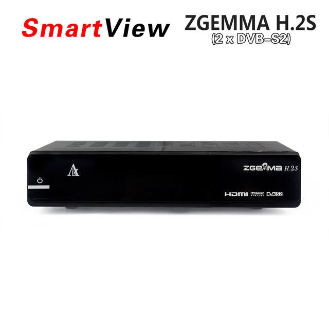 Original ZGEMMA h. 2 S doble sintonizador DVB-S2 + de DVB-S2 doble núcleo receptor de satélite Enigma 2 linux OS 2000DMIPS CPU BCM7362 Set Top Box