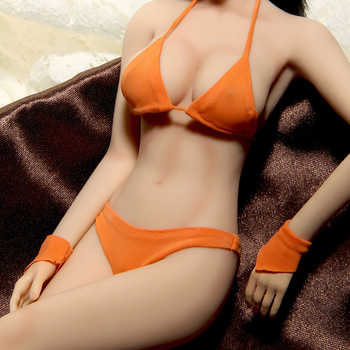 1/6 Action Figure Doll Super Flexible Female Seamless Body Movable with Stainless Steel Skeleton in Big Bust PLLB2014-S07