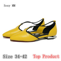 Genuine Leather Flat Shoes Women Oxfords Slip On Shoes Flats Woman Loafers High Quality Plus Size