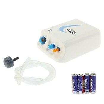 Aquarium Portable Oxygen Pump Battery Aerator Compressor 1.5V 0.5W 1