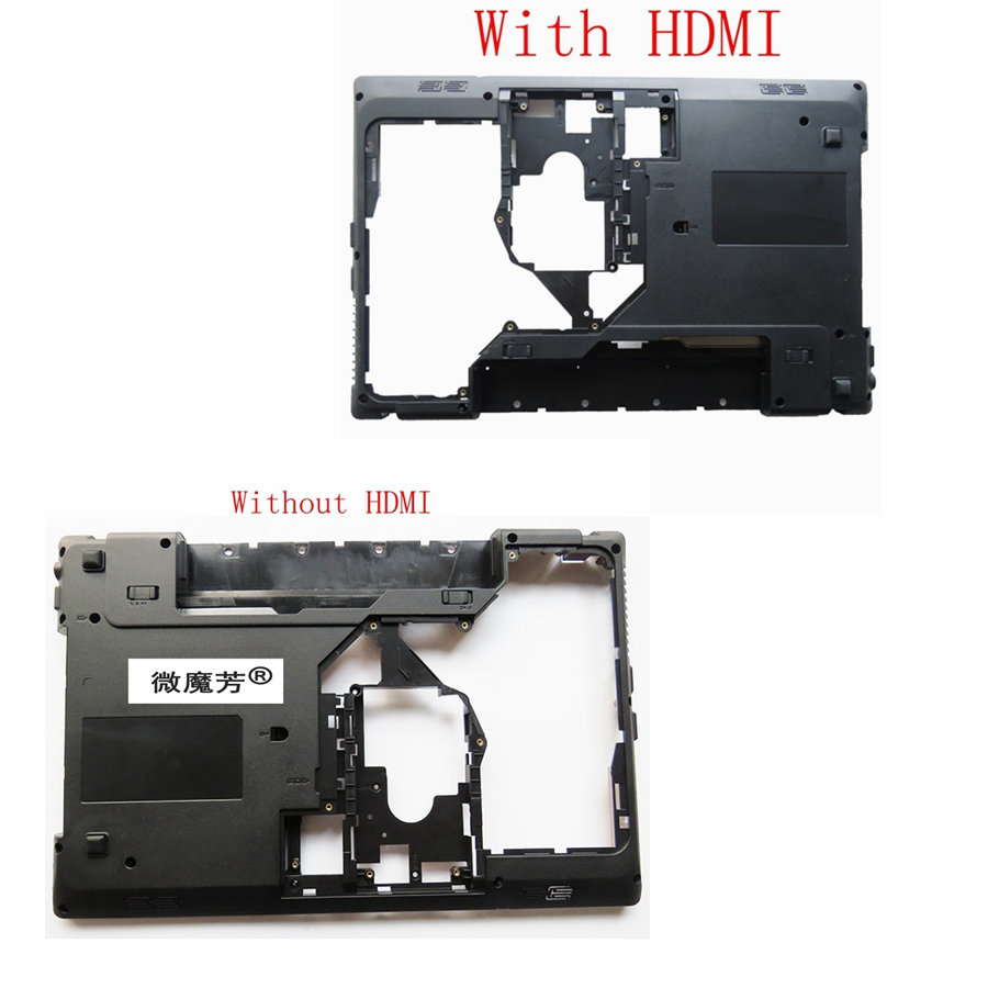NEW Laptop Bottom Base Cover For Lenovo G570 G575 G575GX G575AX Black D shell gzeele new laptop bottom base case cover for lenovo g570 g575 g575gx g575ax base chassis d cover case shell with hdmi port parts
