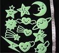 Children bedroom three-dimensional cute cartoon wall stickers fashion wall ornaments laugh stars starlight patch / fluorescent s