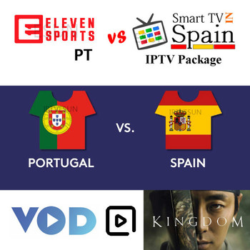 FHD Spain IPTV Portugal IPTV Subscription Sports LiveTV and VOD Series For Android TV Box smart tv Free test Set-top Boxes