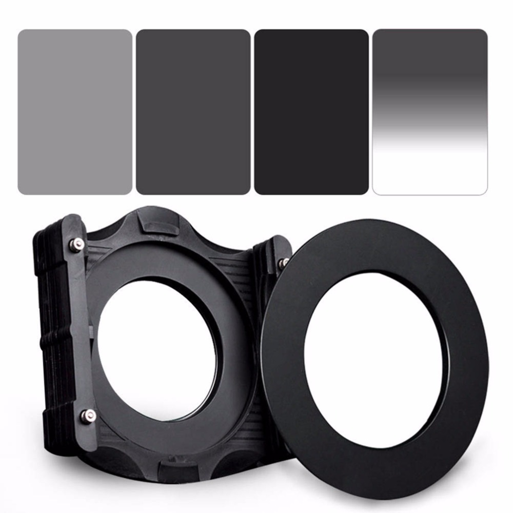 ZOMEI 6in1 Filter Kit 95mm Ring + Holder + 150x100mm Gradual ND4 + Full ND2+ND4+ND8 Neutral Density Square ND filter for Cokin Z luxberry плед покрывало лебяжий пух