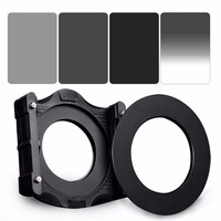 ZOMEI 6in1 Filter Kit 95mm Ring + Holder + 150x100mm Gradual ND4 + Full ND2+ND4+ND8 Neutral Density Square ND filter for Cokin Z