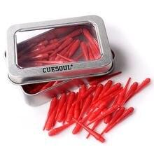 Cuesoul csstp007 100 штук красные мягкие наконечники для мягких