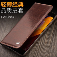 2017 New For Xiaomi Mi 6 Mi6 M6 M 6 Original QIALINO Brand Natural Calf Skin