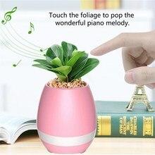 Waterproof Wireless Bluetooth Speaker Flower Pot columns  led Light loudSpeaker Flowerpot smart robot speaker for phone lordzmix