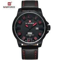 2016 NAVIFORCE 3D Scale Design Brand Watches Men Gold Quartz Watch Man Leather Waterproof Clock Military Sports Wrist watches