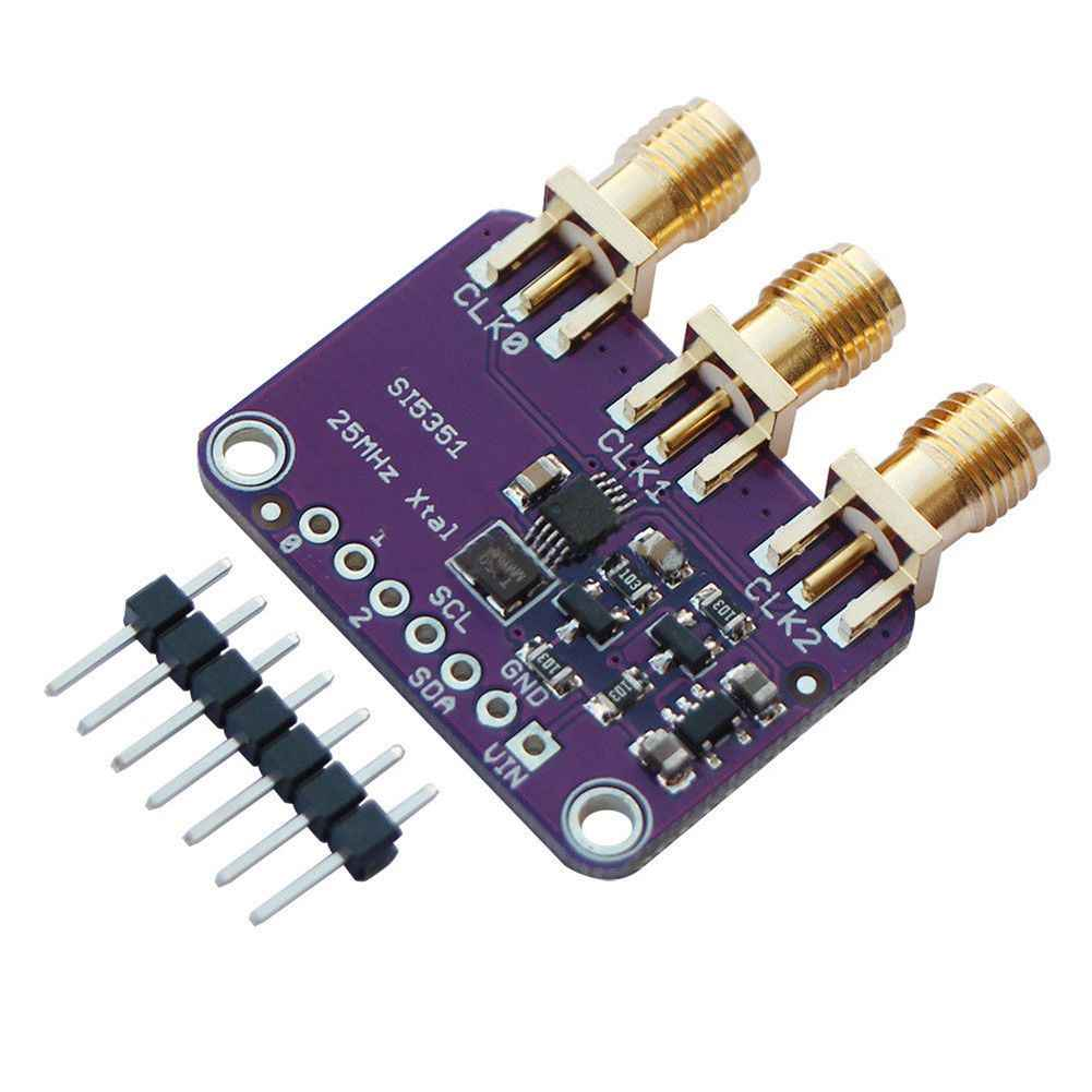 Top quality Si5351A I2C 25MHZ Clock Generator Breakout Board 8KHz to 160MHz  for Arduino