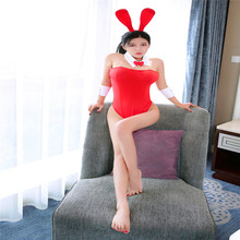 Rabbit Girl Dress Classy Bunny Costume For Role Plays 3 Colors Women Sexy Bunny Cosplay Bodysuit Set Underwear Leotard
