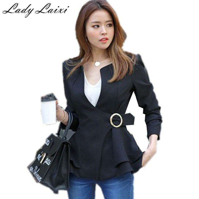 High quality Ladies black White blazers and jackets Womens coat Female Women Office Ladies
