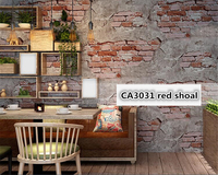 Beibehang Brick 3d Wallpaper Retro Old Grey Cement Brick Industrial Wind Antique Personality PVC Background Wall
