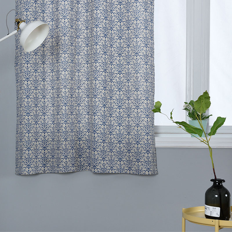 Image 5 - Modern Countryside Print Window Treatment Curtain Cotton Solid for Livingroom Bedroom Hotel Home Deco Blackout Curtain cortinas-in Curtains from Home & Garden