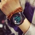 2016 Роскошные Женщины Кварцевые Цифровые WatchWomen Спортивные Часы Relógio Masculino Шок Relojes LED Военная Водонепроницаемый Наручные Часы