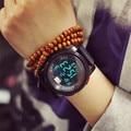 2016 Mulheres De Luxo de Quartzo Digital WatchWomen Esportes Relógios Relogio masculino Relojes Choque LED Militar relógios de Pulso À Prova D' Água