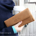 2017 Fashion Style PU Leather Women Wallet 4 Color Letter Print Lady Wallet Purse Card Protector Solid Wallet High Quality W002