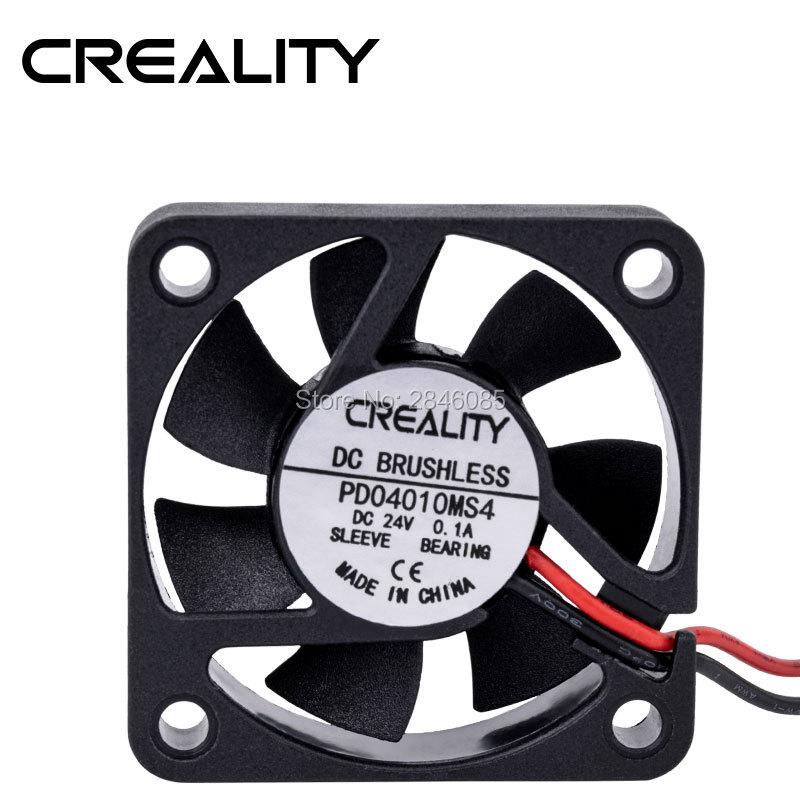 Creality3D printers parts DC BRUSHLESS PD04010MS4 DC 24V 0.10A Cooling Fan 40mmx40mmx10mm 4010 sleeve bearing For 3D PrinterCreality3D printers parts DC BRUSHLESS PD04010MS4 DC 24V 0.10A Cooling Fan 40mmx40mmx10mm 4010 sleeve bearing For 3D Printer
