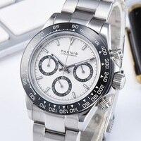 Parnis Quartz Chronograph Watch Men Top Brand Luxury Pilot Business Waterproof Sapphire Crystal Wrist Watch Relogio Masculino