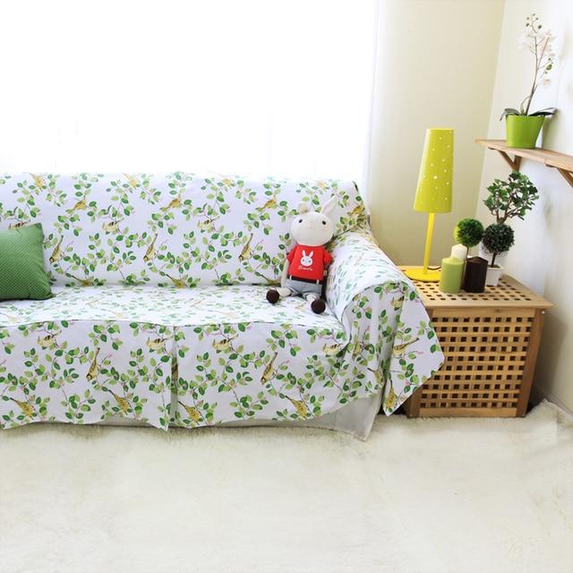amricain rustique 100 coton paississement fleur serviette canap housse de canap tissu vert - Canape Rustique