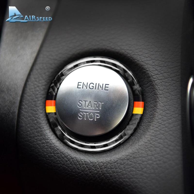 Airspeed for Mercedes Benz C Class W205 E Class W213 GLC Carbon Fiber font b Car