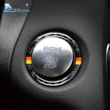 Скорость полета для Mercedes Benz C Class W205 E класса W213 GLC углеродного волокна салона зажигания запуск двигателя крышка отделка кольцо Стикеры