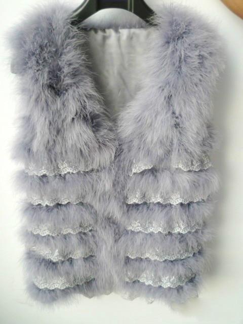 Femmes Sans Dinde Manteau De Hiver Le Fête gris Naturelles Manches 100Plumes Fourrure noir rose Mariage Blanc Pour Plume Gilet Et La D'autruche NkXnw0P8O