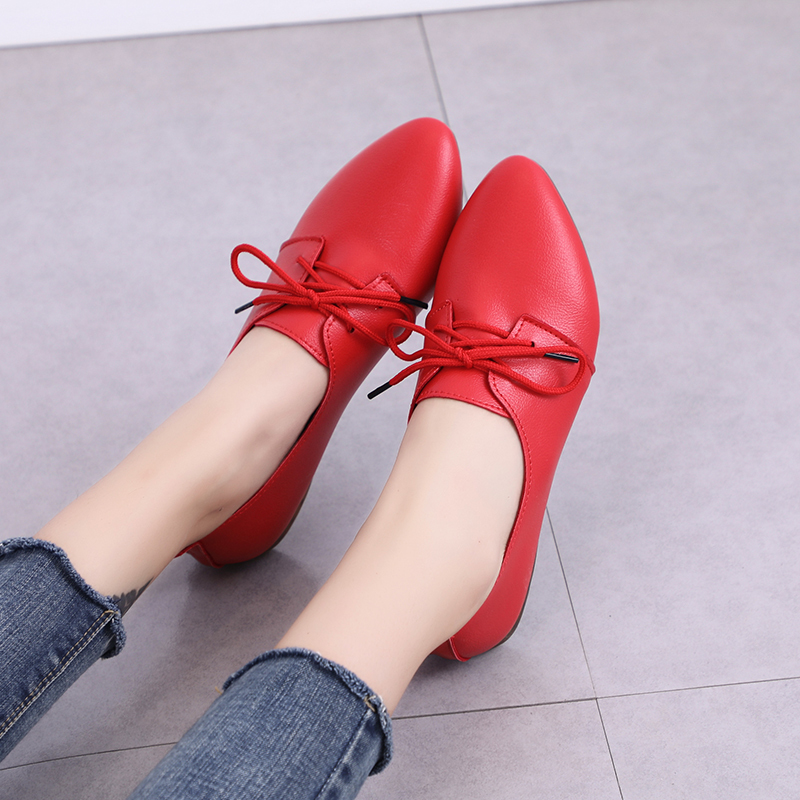 2019 New Arrival Women Flats Shoes Pointed Toe Shallow Flats Fashion Spring Autumn Women Shoes Loafers Casual Soft Zapatos Mujer 4