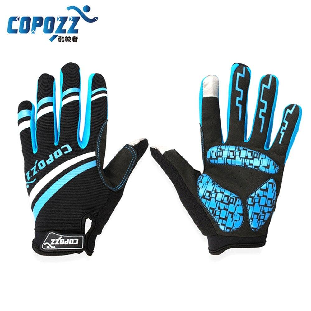 Prix pour Nouveau Copozz Sports de Plein Air Vtt Équitation Gants Long Complet Finger Gants En Silicone Respirant Hommes Femmes Mitaines Glv-150